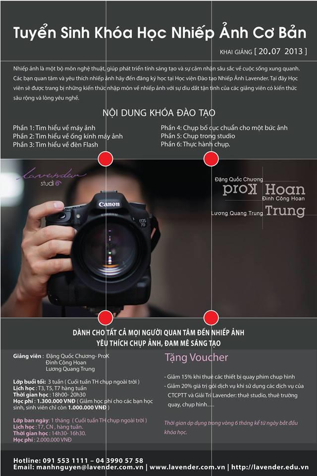Đào tạo nhiếp ảnh-Tuyển sinh khóa 3
