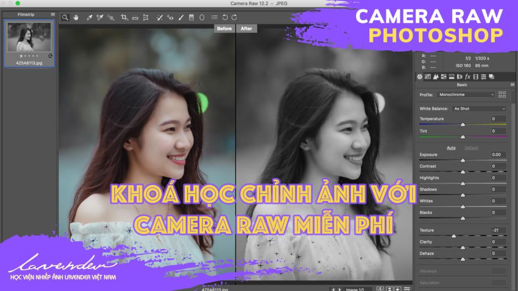 Học chỉnh ảnh bằng camera raw Photoshop