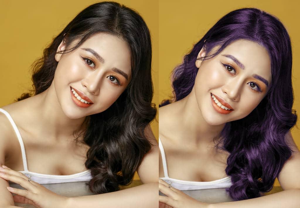 đổi màu tóc bằng Photoshop
